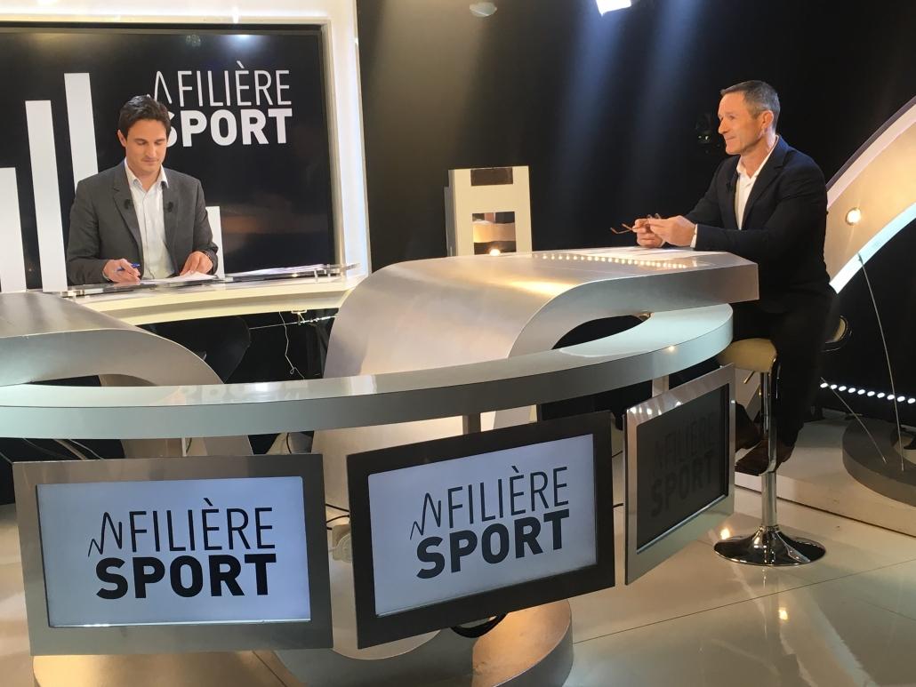 Benoit Campargue dans l'émission Filière Sport, présentée par Maxime Brami afin de parler du sport en télétravail en période de COVID 19.